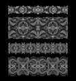 set of abstract seamless embroidery lace ribbons vector image