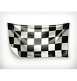Checkered banner vector image