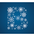 Letter B font frosty snowflakes vector image