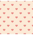 Tile cute pattern pink hearts pastel background vector image