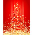 red christmas card vector illustration vector image