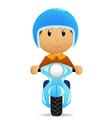 cartoon scooter vector image