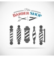 Barber shop pole vector image