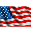 American flag background vector image