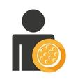 avatar silhouette athlete icon vector image