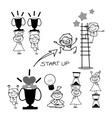cartoon business concept vector image