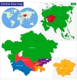 Central Asia map vector image