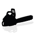 chainsaw black silhouette vector image