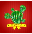 Christmas cactus tree vector image