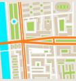 city street road map urban place landmark town vector image