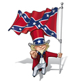 Dixie Sam I Want You Stars and Bars vector image