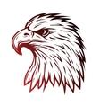 Eagle head in profile Line art style vector image