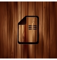 File icon Data symbol Document format vector image
