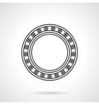 Line icon for roller bearing vector image