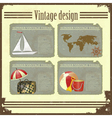 marine Travel set vector image