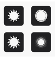 modern sun icons set vector image