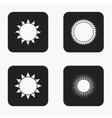 Modern sun icons set vector image