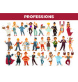 professions and occupation specialists vector image