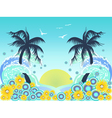 tropical palm tree beach vector image