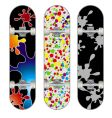 three skateboard designs vector image