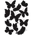 silhouette butterflies vector image