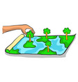 bad environment with clean forest doodles vector image