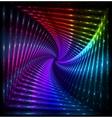 Shining lights rainbow colors frame vector image