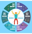 Workout training infographics vector image