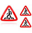 pedestrian crossing vector image vector image