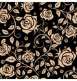 Retro roses floral seamless pattern vector image