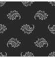 Vintage baroque engraving floral pattern vector image vector image