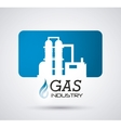 Natural gas design vector image