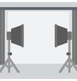 Background of empty photo studio vector image
