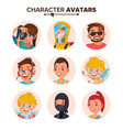 character people avatar set face emotions vector image