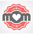 colorful mom emblem design elements for vector image