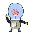comic cartoon robot cyborg vector image