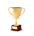 golden trophy vector image