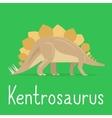 Kentrosaurus dinosaur colorful card for kids vector image
