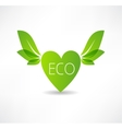 love concept to ecology icon vector image