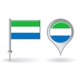 Sierra Leone pin icon and map pointer flag vector image