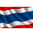 Thailand flag background vector image