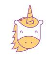 unicorn horned animal fantasy magic vector image