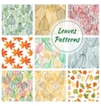 Stylish foliage seamless decorative patterns vector image