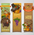 Thanksgiving vertical banners set vector image