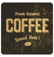 vintage coffee poster vector image vector image