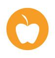 apple round icon vector image