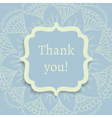 thank you postcard vector image