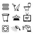 utilities icons vector image