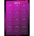 european floral pink and black grungy calendar 201 vector image vector image
