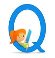 letter q girl vector image